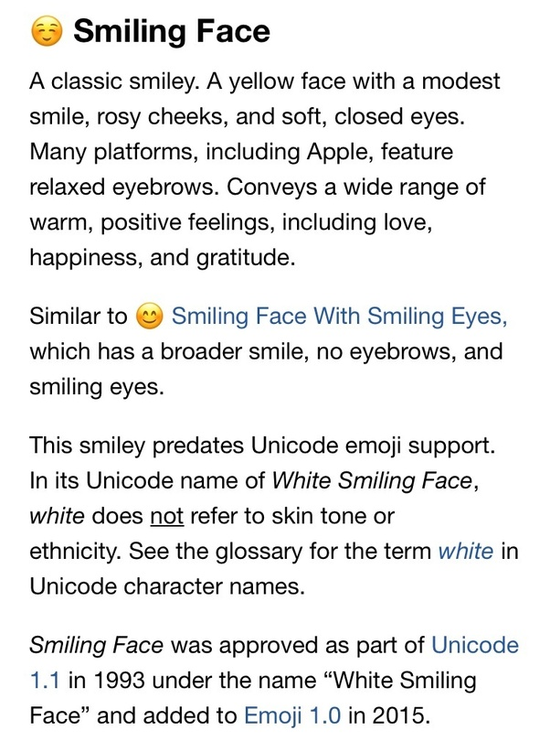 Smiley mean does blushing what What Does
