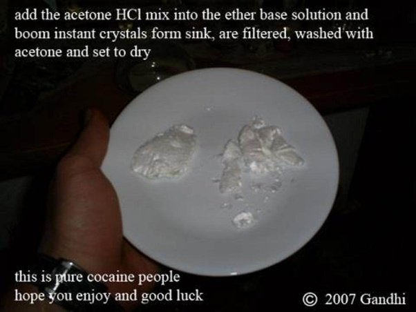 What does 100% pure (newly processed) cocaine look like? - Quora
