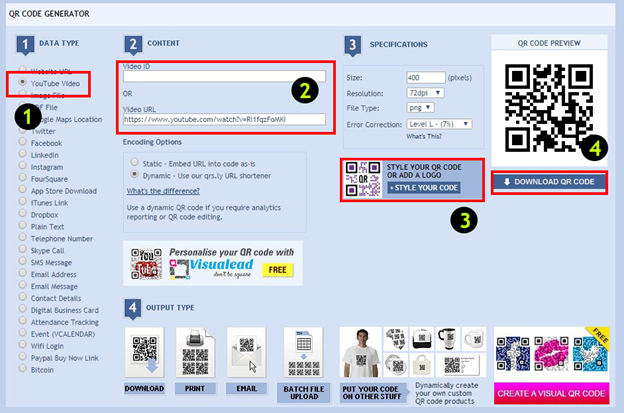 How to add a QR code to your project so that when scanned a video