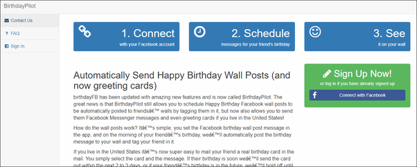 Is There A Facebook App To Automatically Send Birthday Greetings