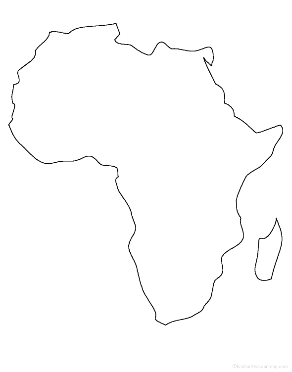 what shape best describes the continent of africa quora