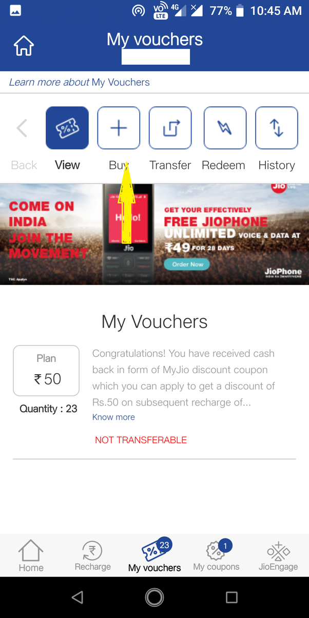 Can I use a Jio voucher to recharge another number? - Quora