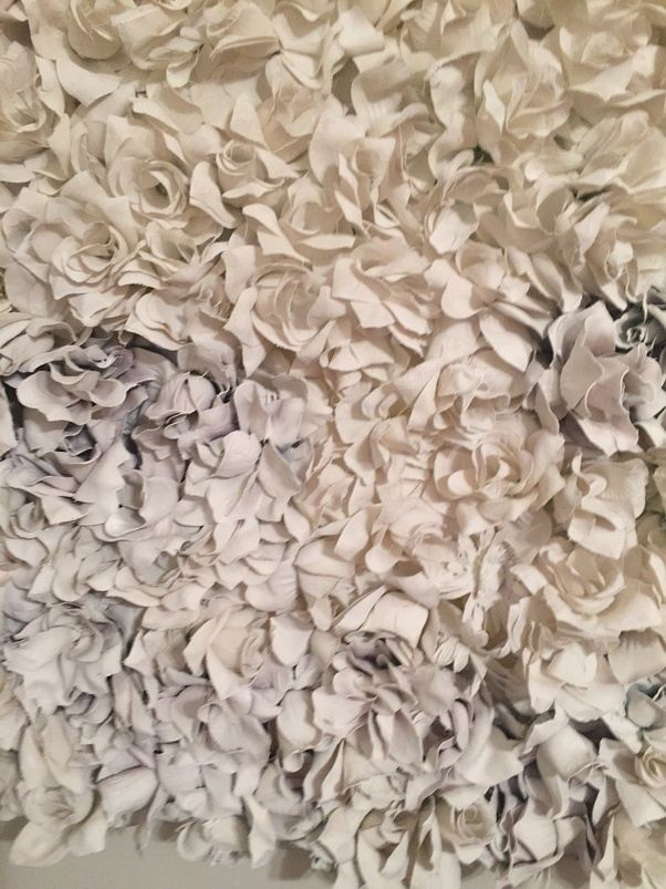 How to decorate cheap silk flowers for weddings quora but it can be spray painted any color after that there are many examples on pinterest as well here are some flowers drying after gesso mightylinksfo
