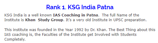 Which coaching is the best for IAS preparation in Patna: Chanakya
