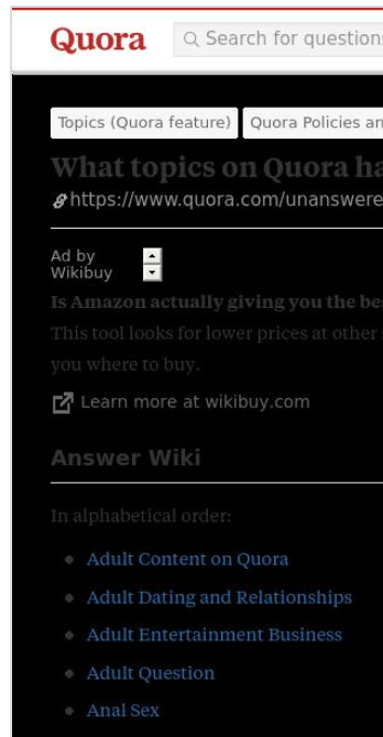 Is Google search digesting Answer Wikis from Quora? - Quora