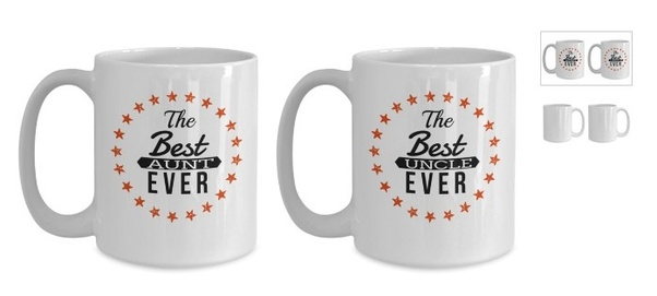 aunt and uncle coffee mugs great uncle mug crazy uncle mug favorite aunt gifts the best aunt mug uncle gifts funny 11 oz couple mugs - Christmas Gifts For Aunts