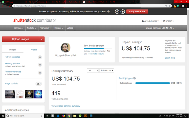How much does shutterstock pays contributors? - Quora