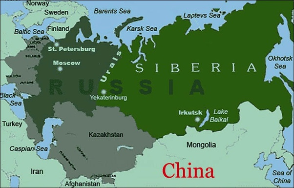 Image result for map of siberia in russia