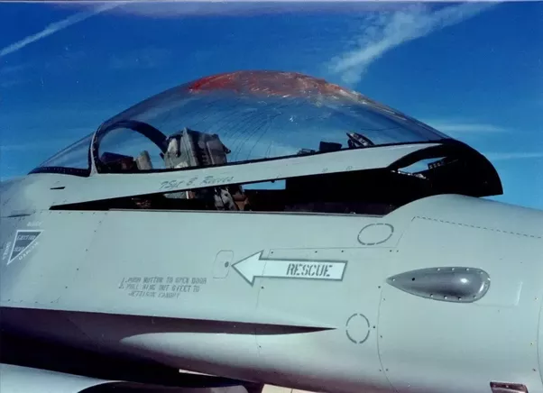 F-16 canopy after a bird strike. Notice that the canopy is fragmented but in one piece. Tough fella! & Can a sniper bullet go through a jet fighteru0027s glass and kill the ...