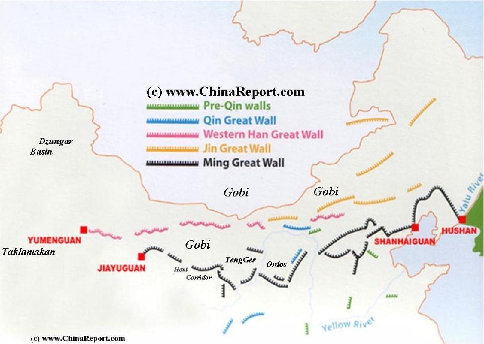 Great Wall Of China On China Map.How Long Would It Take Someone To Walk The Great Wall Of China Quora