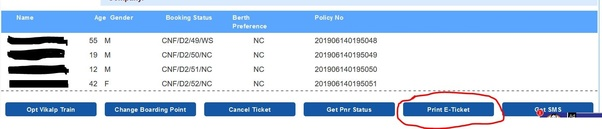 How to print an e-ticket by using a PNR number - Quora