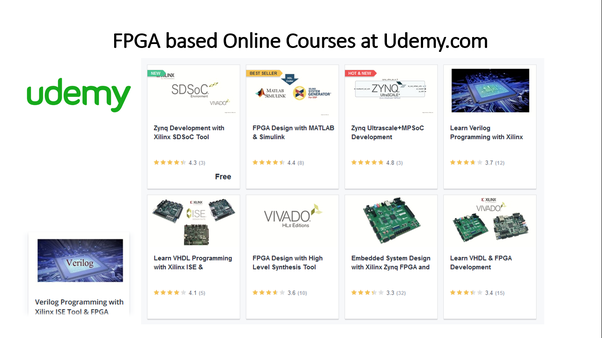 What are the courses related to VLSI and Verilog on Coursera, edX or