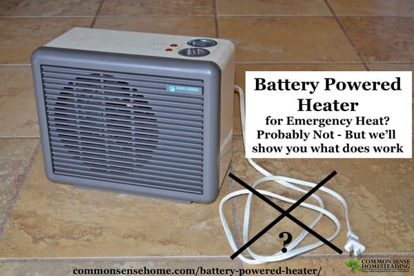 Do You Know Of A Battery Powered Heater For A Car