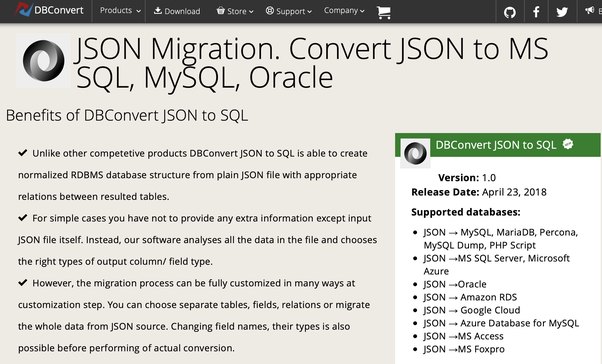 What is the best way to convert JSON to an SQL Query? - Quora