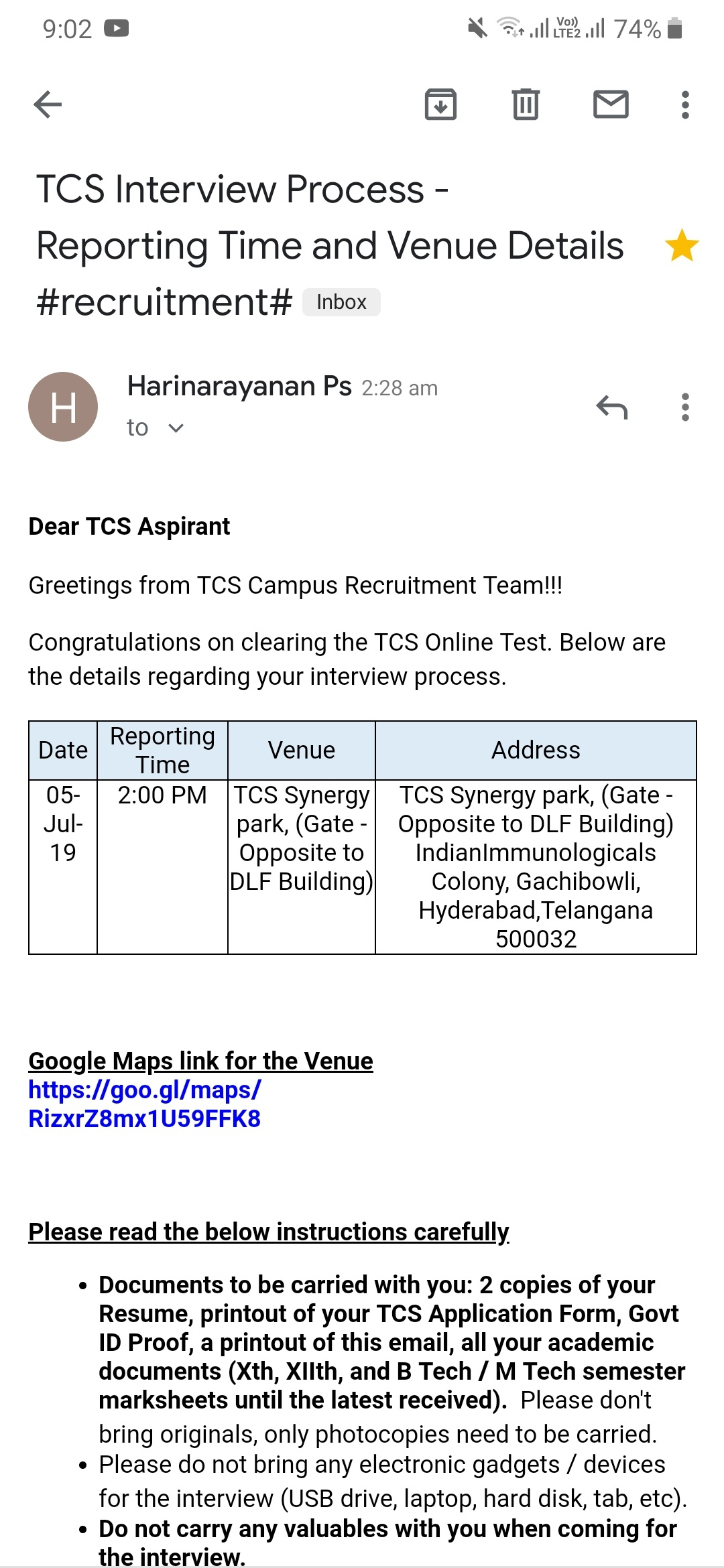 Did anyone receive mails regarding TCS NQT 2019 results? - Quora