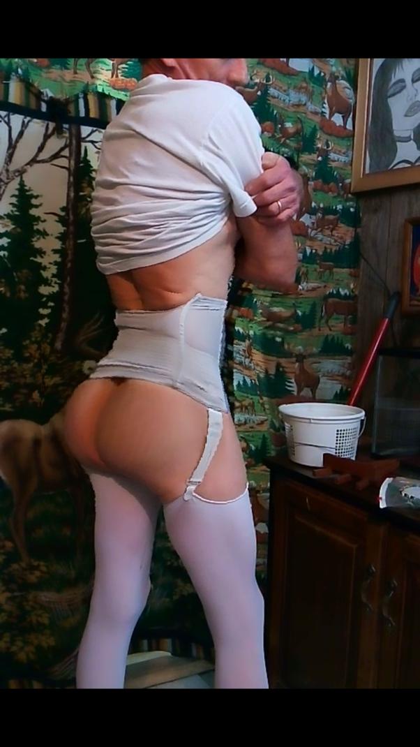 Thigh High Socks And Panties Gif