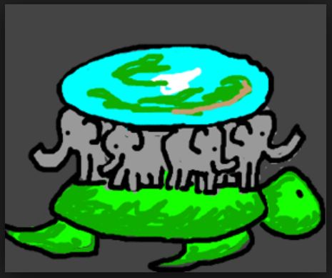 Some Say The Flat Earth Is Suspended On Unbelievably Huge Turtles Or Elephants