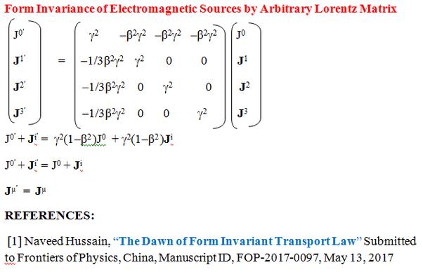 What Is An Arbitrary Lorentz Transformation Matrix Under