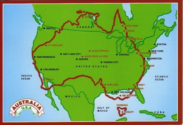 Map Of Australia And Usa.Why Is Australia So Sparsely Populated Quora