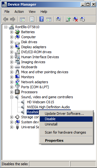 if i uninstall my realtek audio driver how can i make windows 10 not re install it every time i. Black Bedroom Furniture Sets. Home Design Ideas
