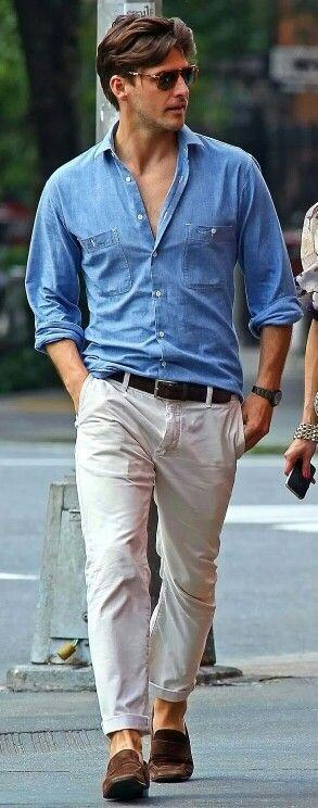 What colour belt goes with a light blue shirt light brown for What color shirt goes with brown pants