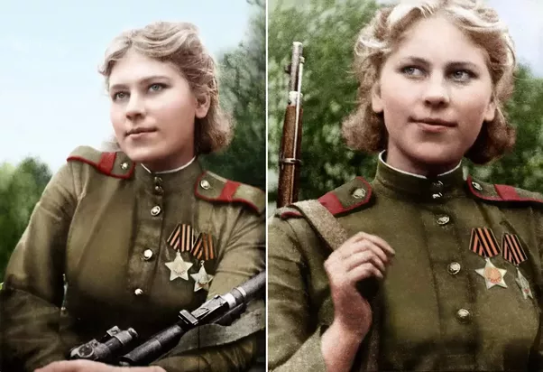Are there any cool stories to share, about female Soviet soldiers