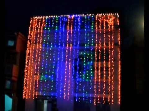 How to make diwali decorations at home and at the office - Light decoration ideas for home ...