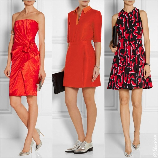 b9a33dab9df What color shoes should I wear with a red dress  - Quora