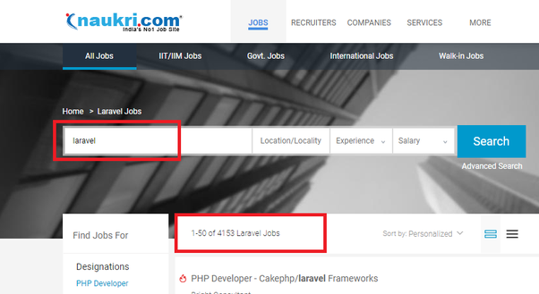 Is it hard to get jobs as a PHP developer if everything you have