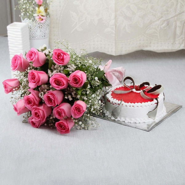 how to send flowers and cake online
