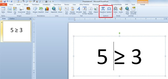 How To Type The Less Than Or Equal Sign On Powerpoint Quora