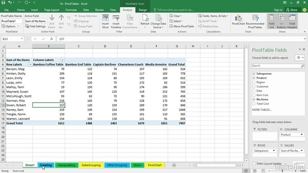 what is the difference between an excel table and a pivot table