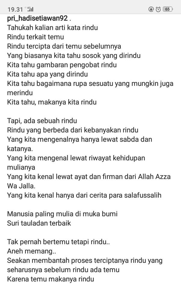 Apakah Ada Puisi Yang Menyanjung Nabi Muhammad Quora