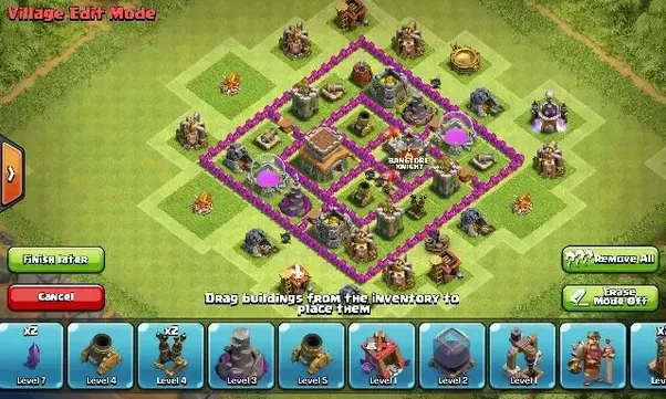 Which is the best base layout for Town Hall 6 on Clash of ... | 602 x 361 png 446kB