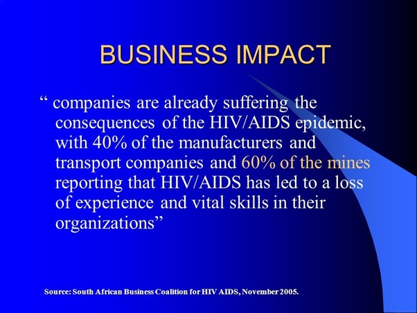 How Does Hiv  Aids Affect A Business In South Africa
