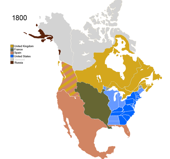 where the us and uk territory were one country