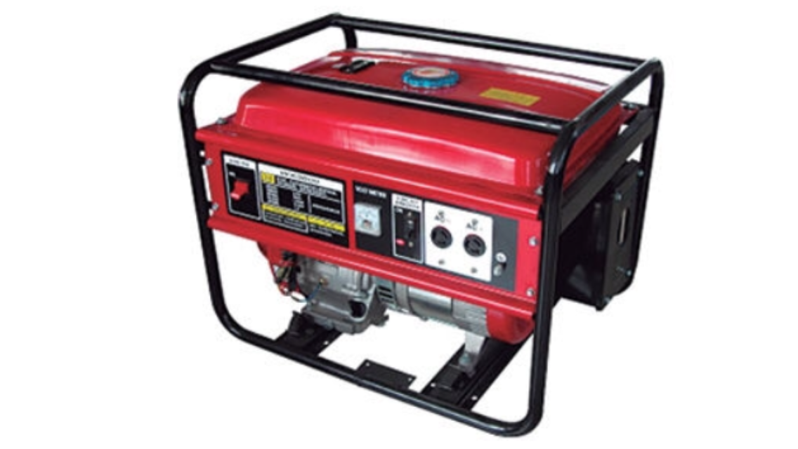 What RPM does a gasoline generator start producing