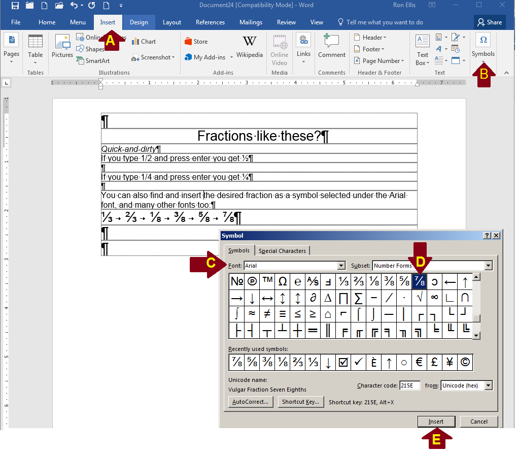 How to make fractions in Microsoft Word - Quora