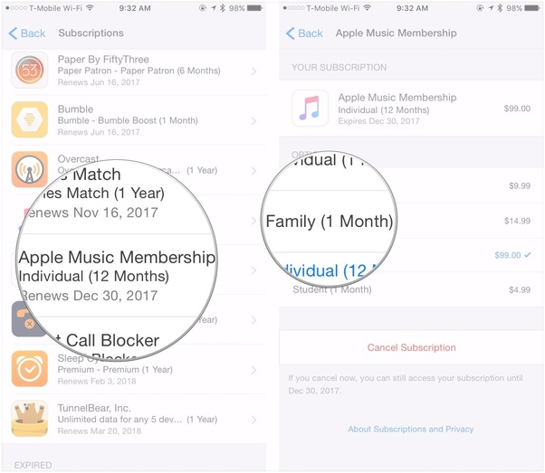 How to move from an individual Apple Music plan to a Family