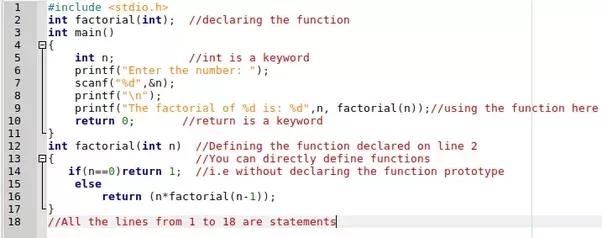 the keywords in c programing pdf