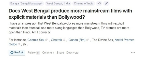 Does West Bengal produce more mainstream films with explicit