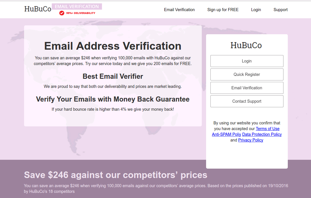 Is there a way to cheaply validate email addresses for
