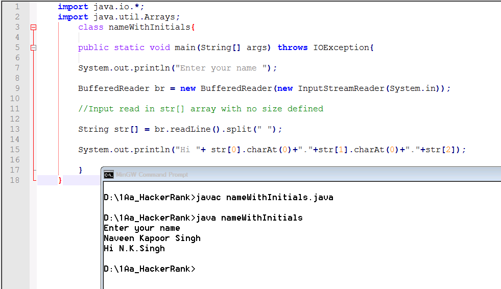 How To Read And Print A String In Java