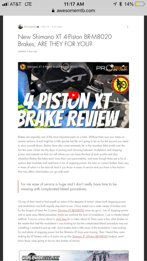 Are the new Shimano 4 piston XT brakes worth buying? - Quora