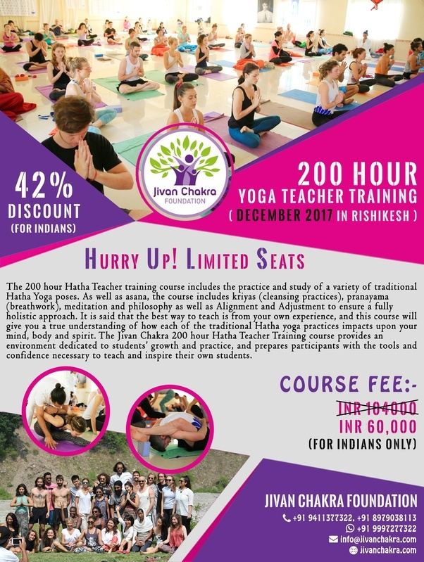 Jivan Chakra Foundation Rishikesh India Organize A Yoga Teacher Training Course Specially For Indians In This Coming December 2017