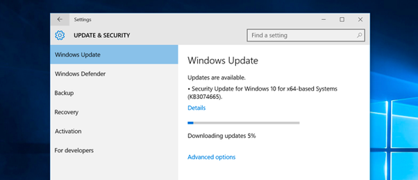 Which is the size of the Windows 10 Feature Update version 1803