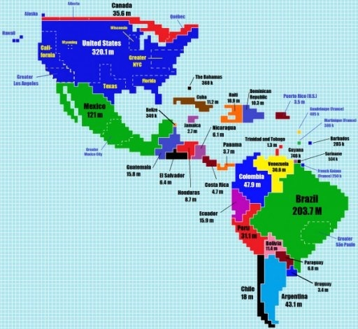 What are some great world map visualizations quora heres what the world would look like if countries were as big as their population sizes gumiabroncs Gallery