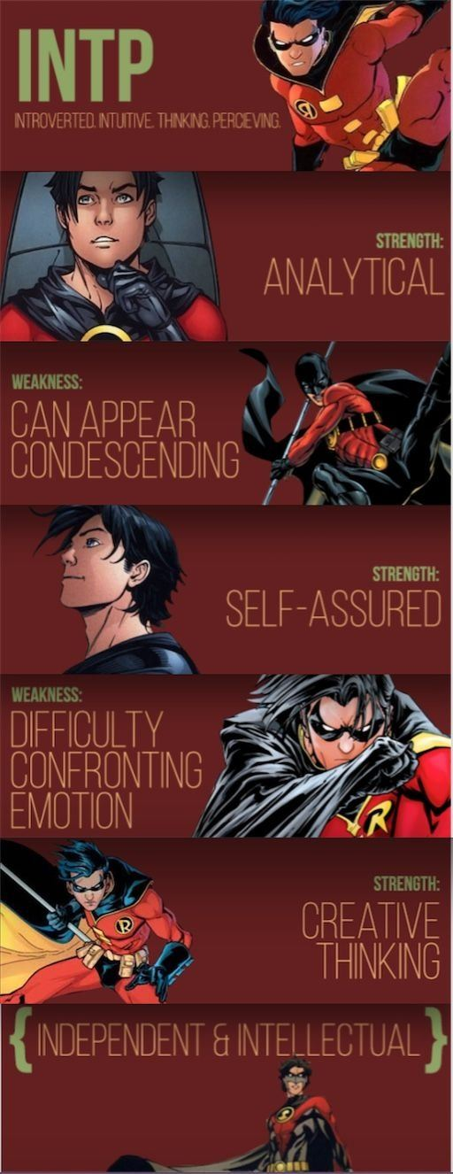 Which superheroes/supervillains have an INTP personality