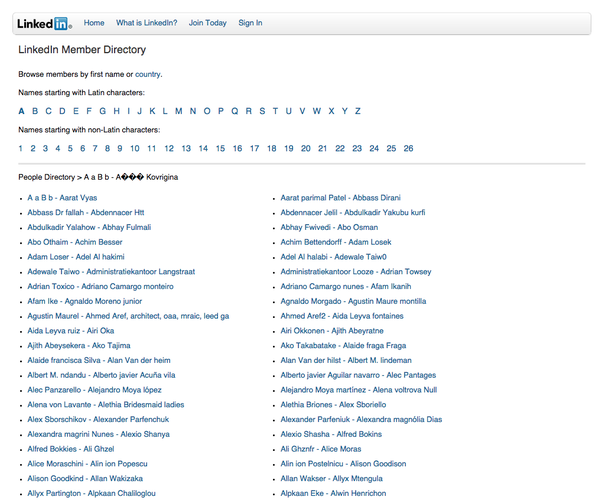 what are some examples of large sites that have html sitemaps