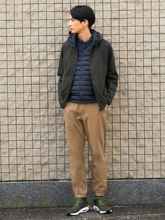 588a556c20c54 Grey pants and shirts in lighter shades of blue look phenomenal with olive  green shoes. Olive green shoes give a nice pop to sombre grey.